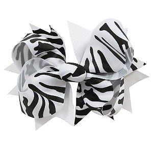 Laço tipo borboleta GG - cód. 17.183 - Zebra