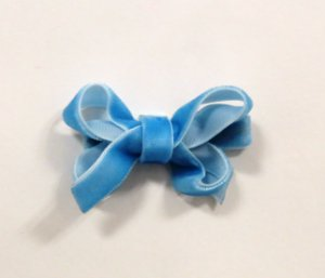 Laço tipo borboleta mini - cód. 14.169 - Veludo azul