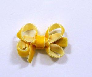 Laço tipo borboleta mini - cód. 14.169 - Amarelo