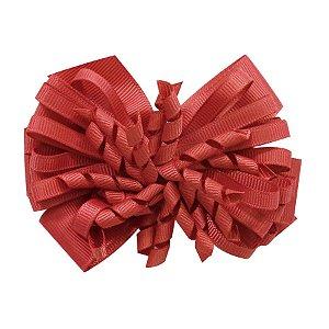 Laço médio com fita enroscada - Cod 13.200 - Vermelho