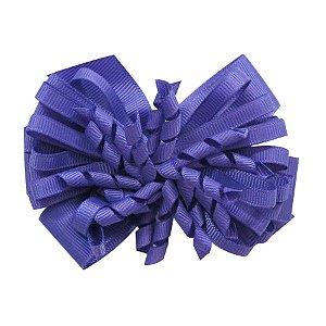 Laço médio com fita enroscada - Cod 13.200 - Azul royal