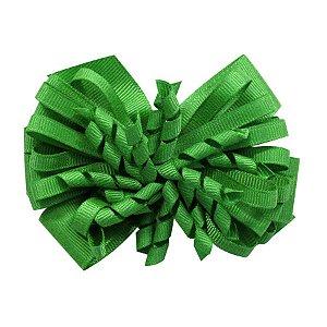 Laço médio com fita enroscada - Cod 13.200 - Verde bandeira