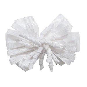 Laço médio com fita enroscada - Cod 13.200 - Branco