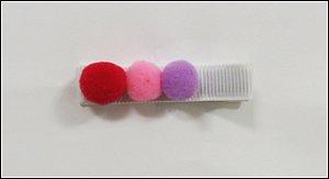 Clip com aplique - Cod 14.053 - Pompom rosa