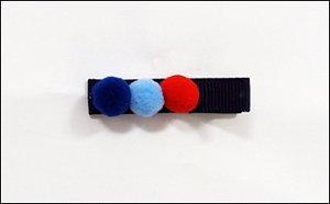 Clip com aplique - Cod 14.053 - Pompom azul