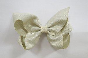 Laço tipo borboleta brilhoso - Cod 17.274 - Pérola