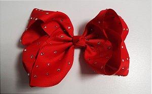 Laço Maxi tipo borboleta com strass - Cod 17.299 - Vermelho