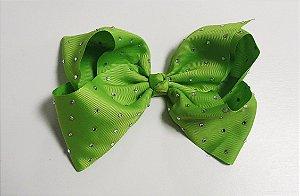Laço Maxi tipo borboleta com strass - Cod 17.299 - Verde