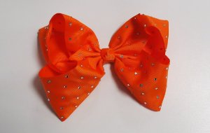 Laço Maxi tipo borboleta com strass - Cod 17.299 - Laranja