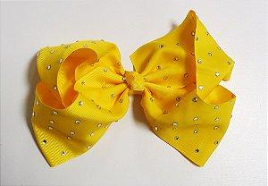 Laço Maxi tipo borboleta com strass - Cod 17.299 - Amarelo