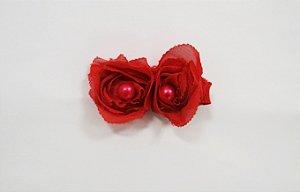 Flores pequenas com pérolas - cód. 13.208 - Vermelha