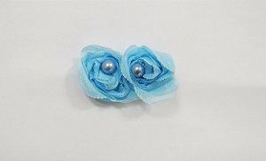 Flores pequenas com pérolas - cód. 13.208 - Azul