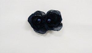 Flores pequenas com pérolas - cód. 13.208 - Marinho