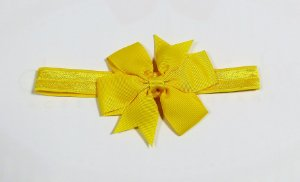 Faixa com laço abby - Cod 22.245 - Amarelo