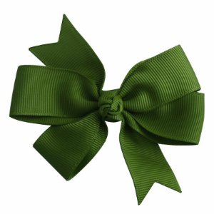Laço duplo de pontas - modelo  Abby - cód. 13.165 - Verde Militar