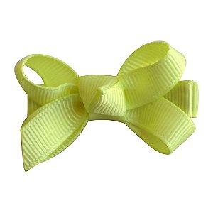 Laço tipo borboleta mini - cód. 14.169 - Amarelo claro