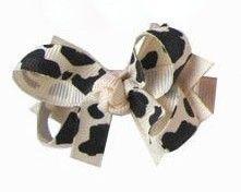 Laço tipo borboleta com base de fita - cód. 14.162 - Onça creme
