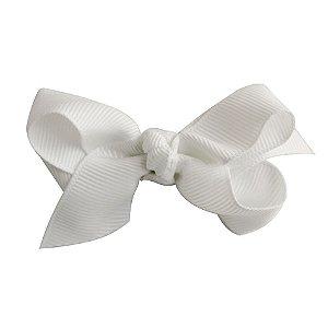 Laço em X modelo borboleta pequeno - cód. 13.197 - Branco