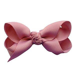 Laço em X modelo borboleta pequeno - cód. 13.197 - Rosa antigo