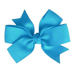 Laço duplo de pontas - modelo  Abby - cód. 13.165 - Azul turquesa