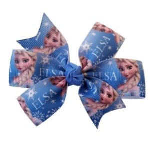Laço duplo de pontas - modelo  Abby - cód. 13.165 - Frozen azul