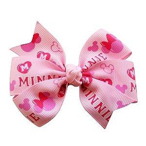 Laço duplo de pontas - modelo  Abby - cód. 13.165 - Minnie rosa