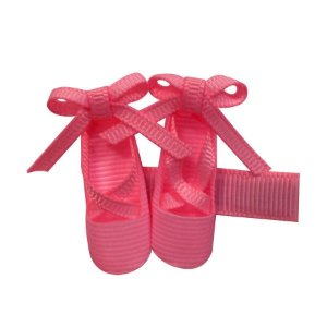 Clip com sapatilha de balet - cód 16.206 - Rosa chiclete