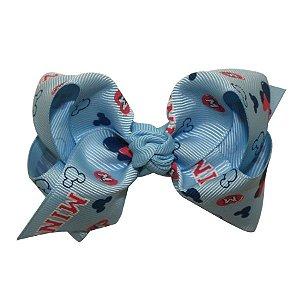 Laço médio em x  com nó - Cód. 13.196 - Minnie azul