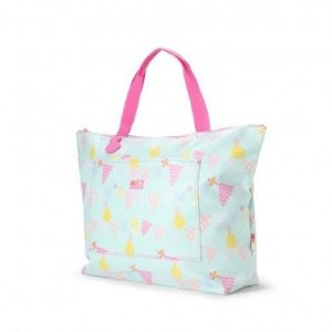 Bolsa Tote bag - Penny Scallan Desing  - Abacaxi e bandeiraas