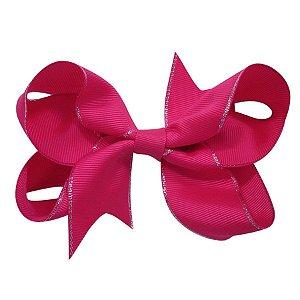 Laço tipo borboleta Grande - Cód. 17.174 - Pink com borda prateada