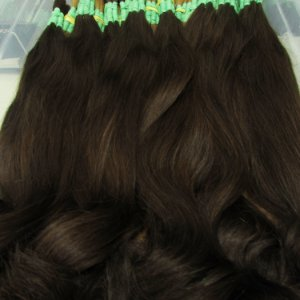 Cabelo Natural Russo Liso Marrom - 60 cm