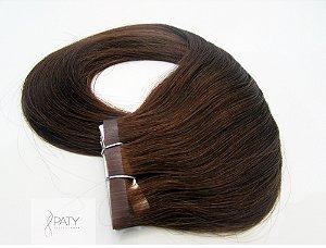 Mega Hair Fita Adesiva Marrom