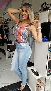 Calça Jeans Barra Desfiada - Ref.7339B
