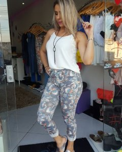 Calça Jeans Estampada Angel - Ref.220334