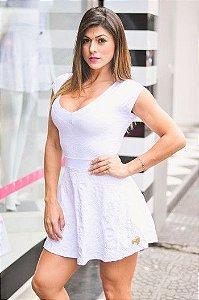 Vestido Ivete Jacquard Branco - Ref.3764