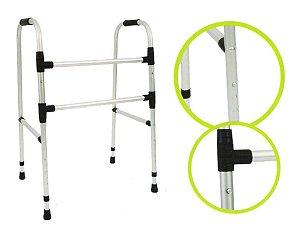 Andador Ortopédico Alumínio 2 Barras Fixo