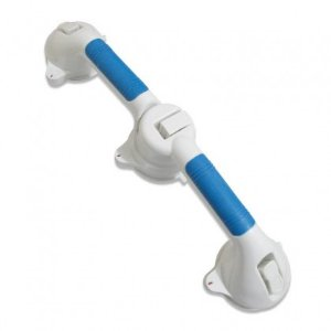 Barra De Apoio Articulada Para Banheiro 3 Ventosas Portátil