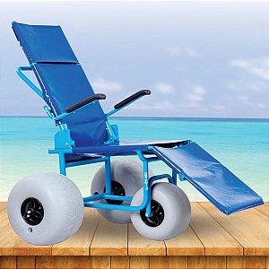 Cadeira de Rodas RECREIO para uso em Piscinas e Praias