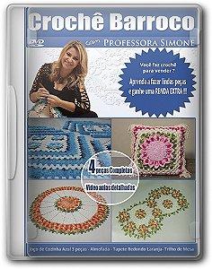 DVD Crochê Barroco - Professora Simone