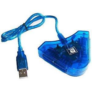 Conversor de Controle Playstation 1 e 2 para PC USB