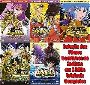 Coleção Dos Filmes Cavaleiros Do Zodíaco - 5 Dvds Originais - (Esgotado)