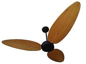 Ventilador de Teto Personalizado Surf - 3 pás Madeira Freijó - Sem Iluminação (tampa reta)