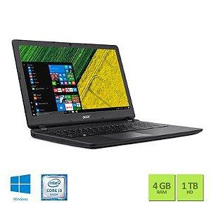 """Notebook Acer ES15723562 Intel Core i3/ 4GB/ 1TB HD - Windows 10 Tela 15,6""""  Preto"""