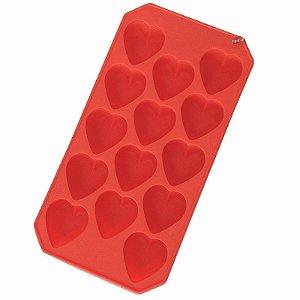 Forma de Silicone para Gelo em Formato de Coração