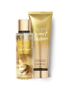 Kit Victoria's Secret Coconut Passion (Hidratante 236ml + Body splesh 250ml)