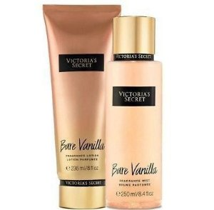 Kit Victoria's Secret Bare Vanilla (Hidratante 236ml + Body splesh 250ml)