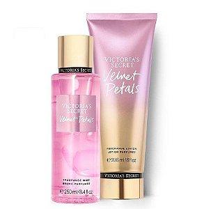 Kit Victoria's Secret Velvet Petals (Hidratante 236ml + Body splesh 250ml)
