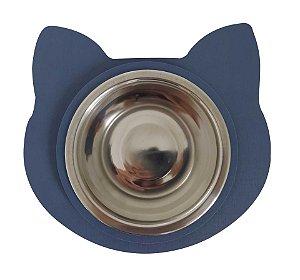 Comedouro Gato Azul