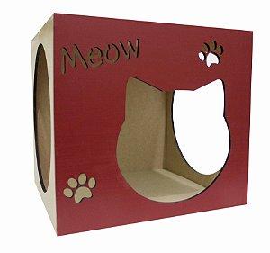 Nicho para Gatos Meow Vermelho