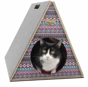 Toquinha Com Arranhador para Gatos - Inca Pink